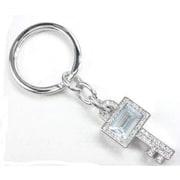 Elegance Key Shaped Key Fob, Clear Crystal