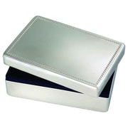 Elegance – Boîte à bijoux rectangulaire nickelée