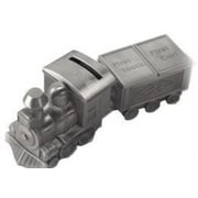 Elegance Pewter Plated Train Bank, Tooth and Curl Boxes Set