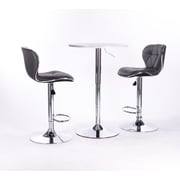 AttractionDesignHome Black Modern Bar Chair Set of 2 (Set of 2); Grey