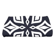 e by design Beach Vacation Beach Star Geometric Print Bath Towel; Navy Blue