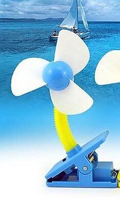 Koolulu Mini Portable USB Rechargeable Battery Clip Fan; Blue WYF078279202831