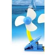 Koolulu Mini Portable USB Rechargeable Battery Clip Fan; Blue
