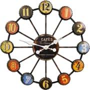 HDC International 28'' Bottle Caps Wall Clock