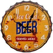 HDC International 14'' Ice Cold Beer Bottle Cap Wall Clock