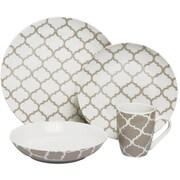 Melange 32 Piece Harmony Coupe Porcelain Dinnerware Set