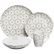 Melange 32 Piece Romance Coupe Porcelain Dinnerware Set