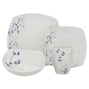 Melange Indigo Garden Porcelain 32 Piece Dinnerware Set