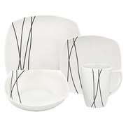 Melange Porcelain 32 Piece Dinnerware Set