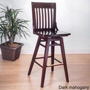 Benkel Seating 30'' Swivel Bar Stool; Dark Mahogany