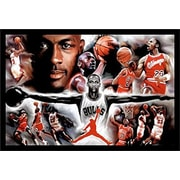 Buy Art For Less 'Michael Jordan - Collage Open Arms' Framed Photographic Print