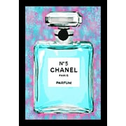 Buy Art For Less 'Channel No. 5 Cotton Candy Colorful Perfume' Framed Graphic Art