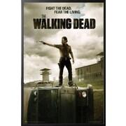 Buy Art For Less 'The Walking Dead Poster Season 3 Jailhouse' Framed Graphic Art