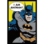 Buy Art For Less FRAMED Batman - I Am Batman 345x22.5 Art Print Poster Comic