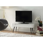 4D Concepts Black and White Entertainment TV Stand