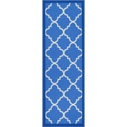 Well Woven Kings Court Blue Area Rug; Runner 2' x 7'