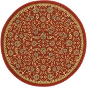Well Woven Kings Court Red Area Rug; Round 4'3''