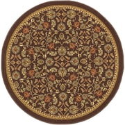Well Woven Kings Court Brown Area Rug; Round 4'3''
