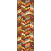 Well Woven Kings Court Red Area Rug; Runner 2' x 7'