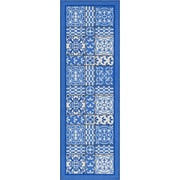 Well Woven Kings Court Blue Area Rug; Runner 2'7'' x 12'