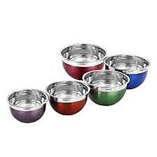 Koolulu 5 Piece Stainless Steel Mixing Bowl