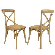AdecoTrading Side Chair (Set of 2); Tan