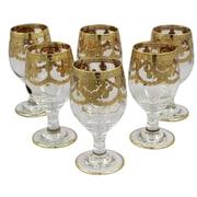 Lorren Home Trends Veneziano 12 oz. Goblet (Set of 6)
