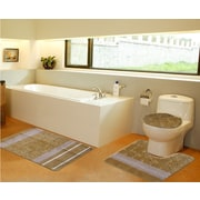 Daniels Bath 3 Piece Bath Mat Set; Gold