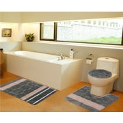 Daniels Bath 3 Piece Bath Mat Set; Sage Green