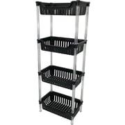 Wee's Beyond 4 Tier Storage Basket; Black