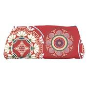 e by design HH Revival Medallions Geometric Print Bath Towel; Red