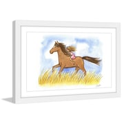 Marmont Hill ''Free as the Wind'' by Phyllis Harris Framed Painting Print; 16'' H x 24'' W x 1.5'' D
