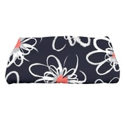 e by design Botanical Blooms Penelope Floral Geometric Print Bath Towel; Navy Blue