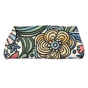 e by design Flora and Fauna Zentangle Floral Floral Print Bath Towel; Red