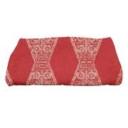 e by design HH Revival Pyramid Stripe Geometric Print Bath Towel; Red
