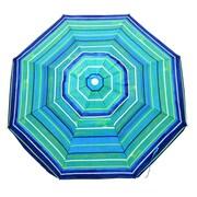 Shadezilla Platinum 6.5 Ft Polyester 100 UPF Beach Umbrella with Vent & Tilt; Green/Blue