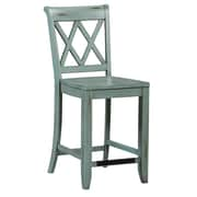 Standard Furniture Vintage Bar Stool (Set of 2); Blue