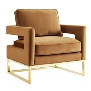 TOV Avery Cognac Velvet Chair