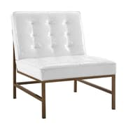 TOV Jed White Patent Leather Chair