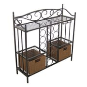 Homestyle Collection 12 Bottle Wine Rack (Set of 2)