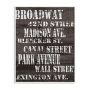 Stupell Industries Broadway Distressed New York City Streets Textual Art Wall Plaque
