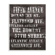 Fifth Avenue Distressed New York City Streets World Art Group Textual Art Wall Plaque