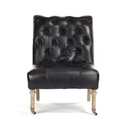 Zentique Inc. Tufted Leather Side Chair