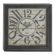 Cole & Grey Metal Square Wall Clock