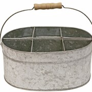 Great Finds Galvanized Tin Tote with Handle
