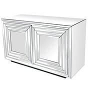 Crestview Millenium 2 Door Mirrored Cabinet