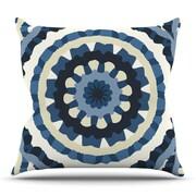 KESS InHouse Ribbon Mandala by Laura Nicholson Outdoor Throw Pillow