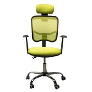HomCom Adjustable Mesh High Back Office Chair with Headrest; Lime Green