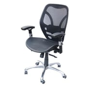 HomCom Deluxe Mesh Ergonomic Office Desk Computer Chair; Black