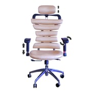 DSD Group Soho High-Back Task Chair w/ Arms; Gold